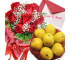 Red Roses With Mangos