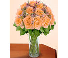 12 Peach Designer Long Stem Roses (Roses)