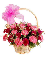 Colourfull Carnation Basket