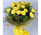 Cute Bunch of 15 Yellow Dutch Roses Flowers 252