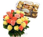 Mix Roses With Rocher