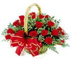 20 Red Rose Basket (Roses)
