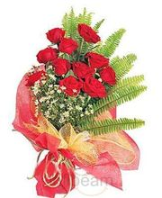 10 Red Roses Bouquet (Roses)