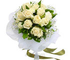 Snow White Roses Bunch (Roses)