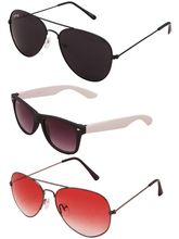 Benour BENTRI004 Trio Pack Of 3 Unisex Sunglasses
