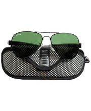 Aislin-Italy Black Gents Eye Wear (Green)
