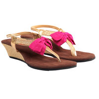 Maalpani Preety Bow Sandal For Women - MAP09011, multicolor, 6