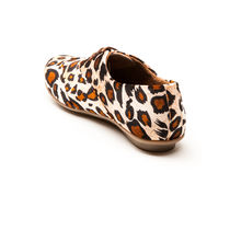 Marclorie Women's Panthera Passion Flat Shoes, 38, beige
