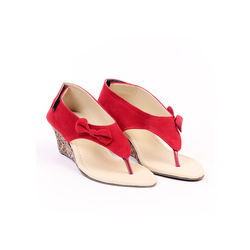 TEN Women s Synthetic Leather Sandals,  red, 36