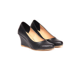 TEN Women s Leather Wedges,  black, 40