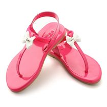 Dchica Pretty Dainty Bow Girls Sandals, neon