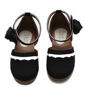 Dchica Black and White Shoes For Girls, black and white