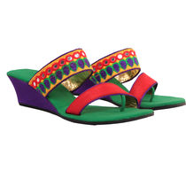 Maalpani Traditional Wedges For Women - MAP09008, multicolor, 9