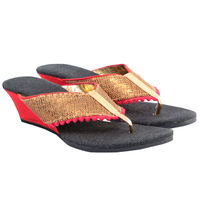 Maalpani Stylish Sequine Wedges For Women - MAP09018, multicolor, 10