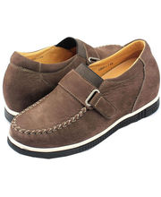 Hike Elevator Shoes for Men K33H01-6 (Brown, 7.5)