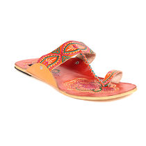 TEN Women's Ethnic Slippers,  orange, 36