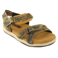 Bacca bucci Genuine Leather Men's Sandals, 7,  tan
