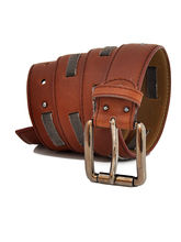 Stylox Casual Genuine Leather Belt For Men, Brown