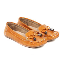 TEN Women's Synthetic Leather Loafer,  tan, 39