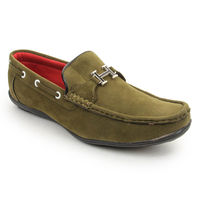 Bacca bucci Men's Loafers, 9, olive