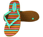 Flots Womens Flip Flop- 1420-Brown (Brown, 5)