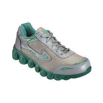 Yepme Men Grey & Dark Green Mess & Faux Leather Sports Shoes - YPMFOOT8161, 9