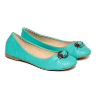 TEN Women's Synthetic Leather Bellies, turquoise, 39