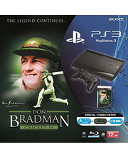 Sony PS3 12 GB Console With Don Bradman Cricket 14, Dvd, Black, Ps3