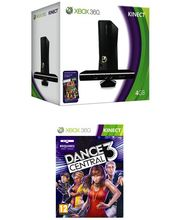 Microsoft Xbox 360 4gb Kinect with Dance Central 3