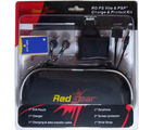 Red Gear PSP & PS Vita Kit Gaming Accessory Kit (Black)
