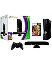 Microsoft XBox 360 4GB Kinect Bundle & Play n Charge Kit, black