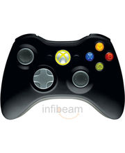 Microsoft Wireless Controller (Black, For Xbox-360)