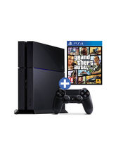 Sony PlayStation 4– GTA V Bundle with Sony Dualshock 4 Wireless Extra Controller