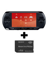 Sony PSP E-1004 with Sony 4GB Memory Card, black