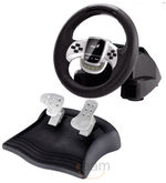 Genius Twinwheel USB Racing Wheel (Black)