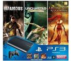 Sony PS3 500GB Slim Console with 3 Free Games (Black)