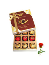 Chocholik Luxury Treat To Your Love With Rose - Lu...