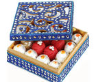 Ghasitaram Gifts Sweets Blue Shining Kaju Mix Box