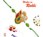 Rich Zardozi work Rakhi with Beads, only one rakhi