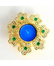 Amazing Golden Green Beads Diya, Set With Tray Of 10 Imported Assorted Chocolate Bars