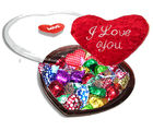 Romantic Choco Truffle Loved Ones Hearts Chocolates (250 gm)