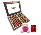 Chocholik Striking Collection Of Love Chocolates With Teddy And Love Card - Belgium Chocolates
