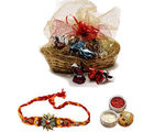 Bask In Love Chocolate Basket Rakhi Gift for Brother
