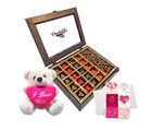 Chocholik Belgium Chocolate Gifts - Heartfelt Love Chocolates with Cute Teddy