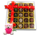 Chocholik Surprises Of Chocolates With Teddy and Rose - Belgium Chocolates