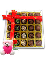 Chocholik Surprises Of Chocolates With Teddy And R...