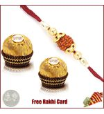 Ethnic Rakhi with 2 Piece Ferrero Rocher