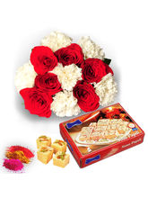 Flowers With 1kg Sone Papri For Holi