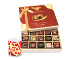 Chocholik Falling In Love With Pralines Chocolates And Love Mug - Belgium Chocolates