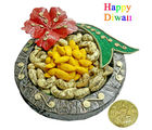 Round Fancy Dry Fruit thali, 100 gm